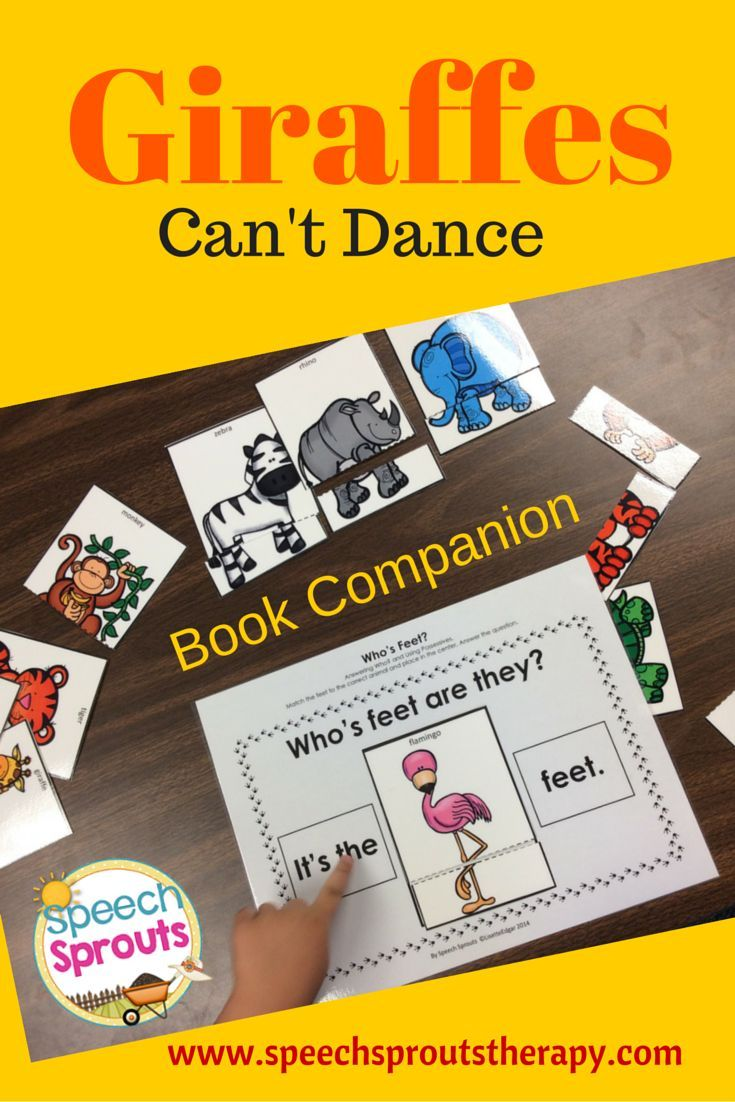 $ Giraffes Can't Dance Book Companion has tons of expressive and receptive language activities.Targets phonological awareness and syntax too!