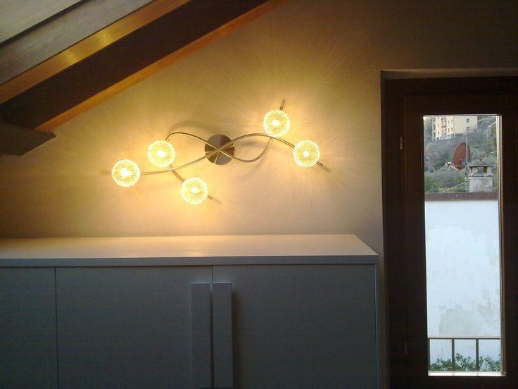 illuminazione mansarda villa a Laglio