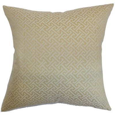 The Pillow Collection Karpathos Geometric Throw Pillow Cover Size: