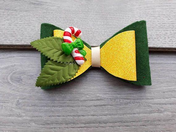 baby 1st Christmas hair bows, 1st christmas headbands, christmas glitter hair clips, photo prop, toddler headband, Christmas stocking filler