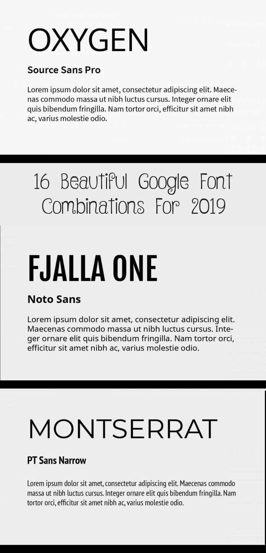 En Blog En Blog in 2020 Google font pairings, Font