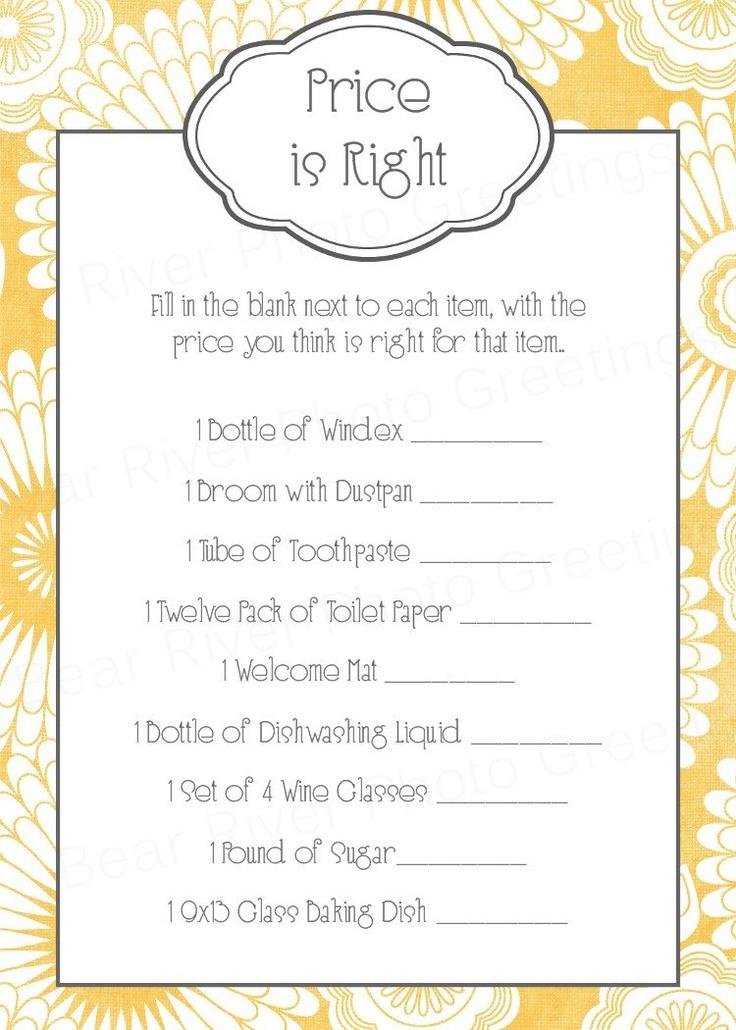 left right bridal shower game pdf