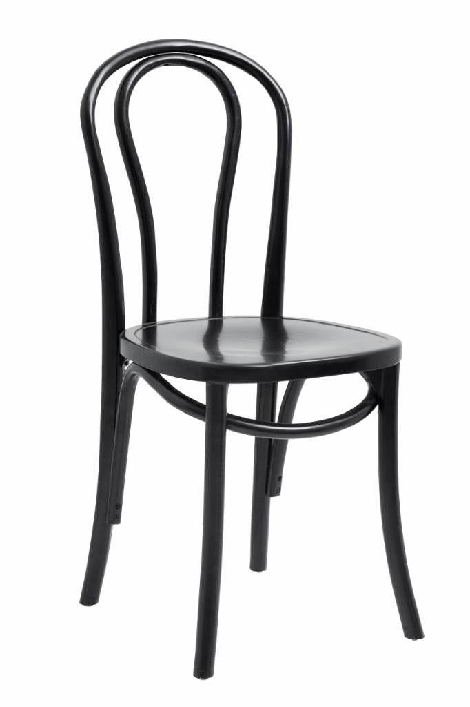 2 Chaises Bistro En Bois Noir O40xh90cm Nordal Chaise Noire Chaise Bistrot Chaise