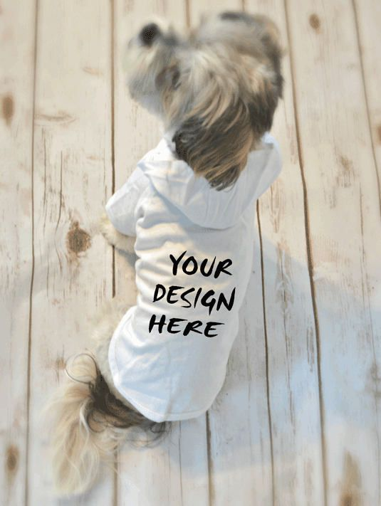 Dog Hoodie T-Shirts with your Customized Design. Custom Screen Printed Dog Apparel.