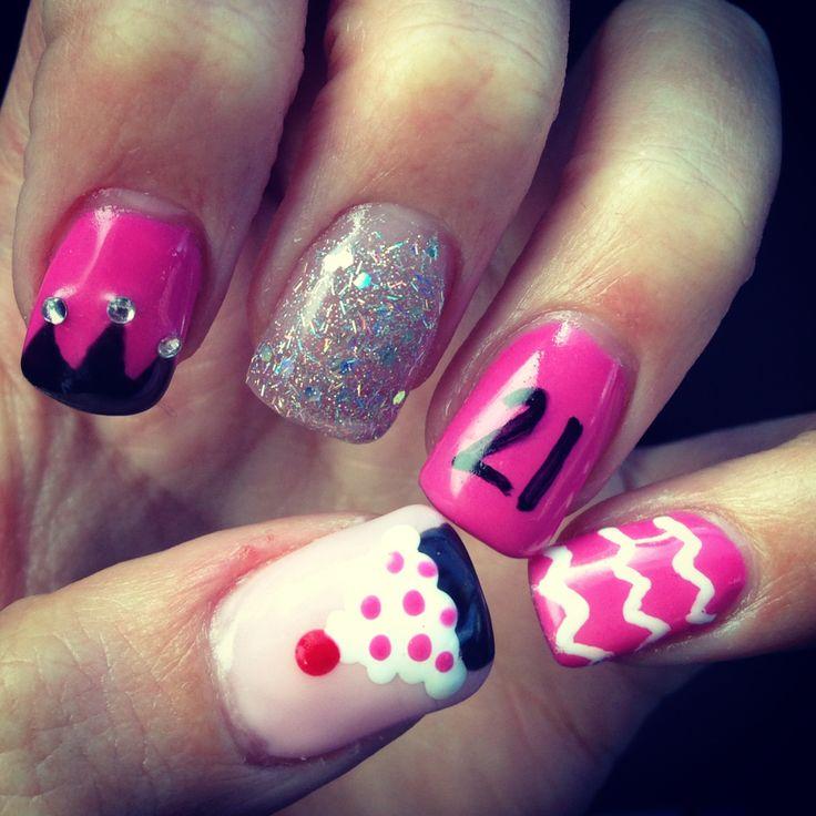 21 birthday nails! - Best 25+ 21st Birthday Nails Ideas On Pinterest Glitter Nails