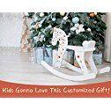 Labebe Vintage Retro Classic diseño de caballo balancín de madera para niños niñas y niños de 12meses a 3años, ASTM F963/con certificación CE juguetes las normas de seguridad, personalizar juguetes, creativo regalo de cumpleaños
