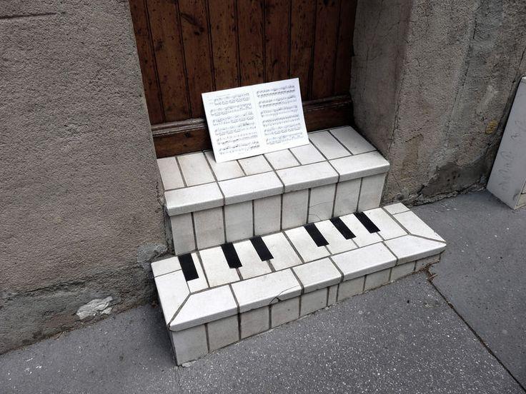 Ambient street artThe Doors, Street Artists, Street Art Utopia, Urbanart, The Piano, Urban Art, Piano Keys, Front Step, Streetart