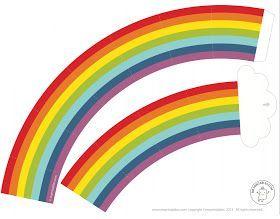 Faça você mesmo um convite para a festinha com o tema Arco-Iris , super fofo e bem diferente dos tradicionais convites de aniversário! Dá u...