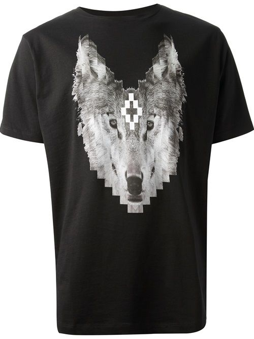 Men - Marcelo Burlon County Of Milan Wolf Print T-Shirt - SMETS