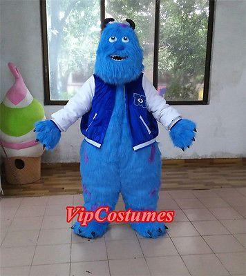 Sully Monster's Inc. sullivan Mascot Costume fancy dress cosplay halloween Adult