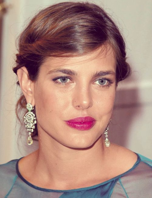 Charlotte Casiraghi. #eyebrows #sopracciglia (I remember her birth and here she is looking like a carbon copy of her mother!...R)