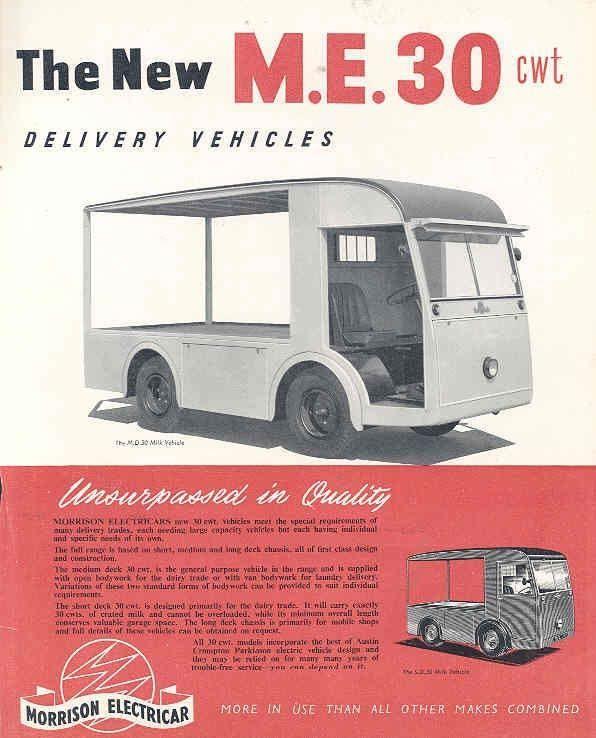 1953 Morrison Austin ME30 Electric Milk Truck Brochure wj5955-WEBAJZ | eBay