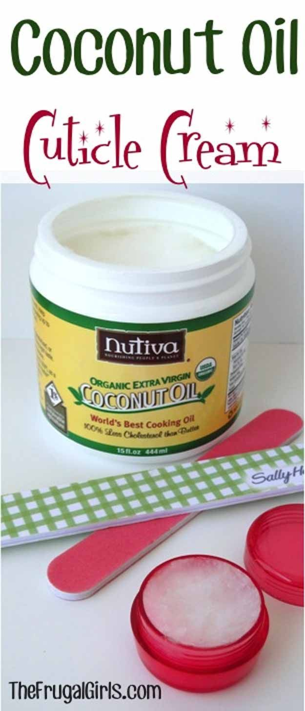 Coconut Oil Beauty Recipes - Coconut Oil Cuticle Cream - Looking For DIY Coconut Oil Recipes For Healthy Skin Care? We Cover Products Like Castile Soap, Lip Balm, And Salt Scrubs That Use Coconut Oil To Keep Your Skin And Body Feeling Healthy And Natural. Coconut Oil Beauty Recipes Can Also Help With Weight Loss, Young Living, And Can Replace Cocoa Butter and Tea Tree Oil As A Supplemental Health Product. Try These At Home And Feel Amazing - https://thegoddess.com/coconut-oil-beauty-recipes