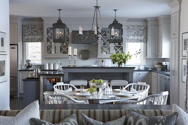 kitchen: Sarah Richardson, Decor, Ideas, Lights Fixtures, Sarah Houses, Colors, Grey Kitchens, Gray Kitchens, Kitchens Cabinets