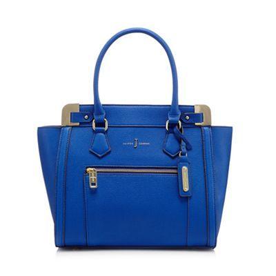 J by Jasper Conran Blue croc-effect tote bag | Debenhams