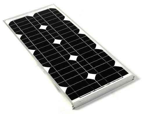 Solar Panel 20 Watt  Aluminium Framed 20w Polycrystalline PV Solar Panel.       20w Solar Panel ideal for charging 70ah 12v or larger batteries and providing solar energy for outbuilding lighting systems.     A 4ah charge controller should be used with this panel when used for charging a 12v Battery/  Cell: 125mm?125mm Monocrystalline silicon cells  Cells Array for the panel: 4?9  £79.99