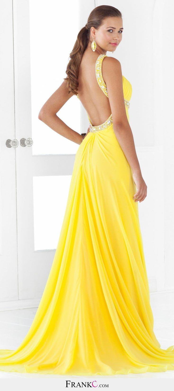 sexy prom dress,yellow prom dress