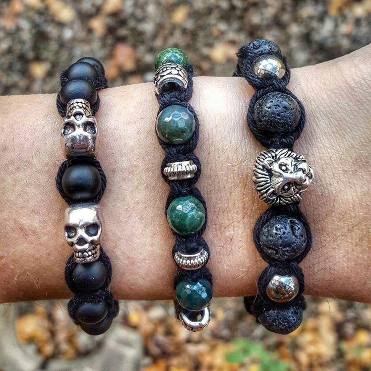 New lion shamballa bracelet with lava stone beads ❤