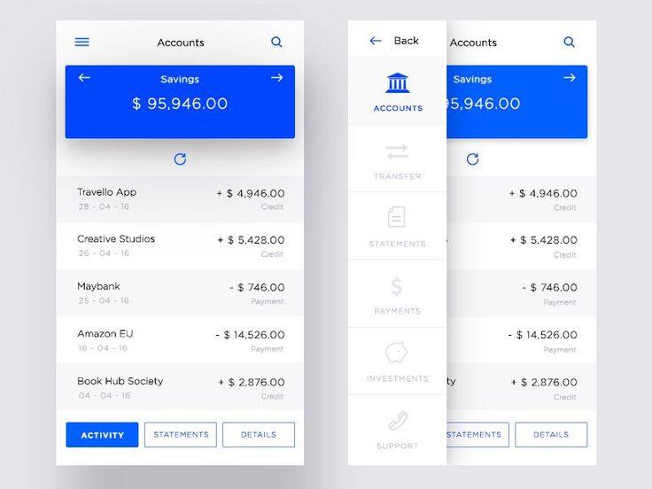 Banking App Account Ui
