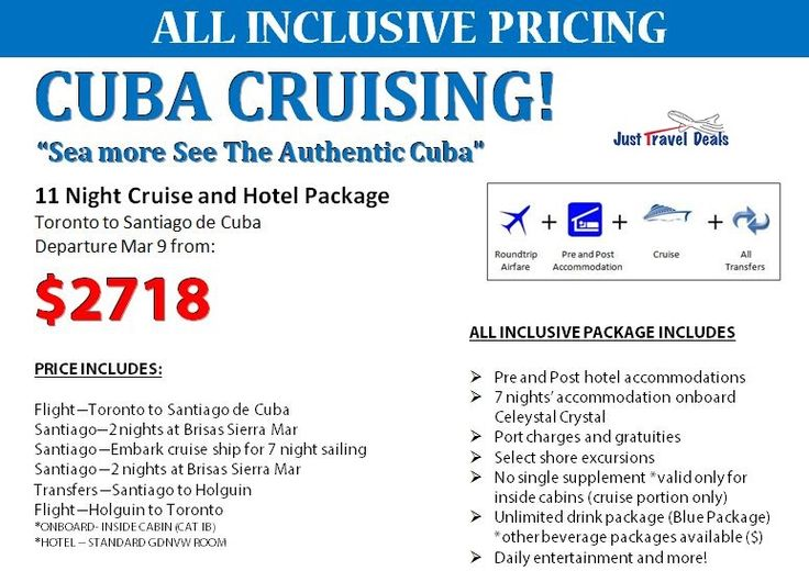 CUBA CRUISING! 11 Night Cruise and Hotel Package