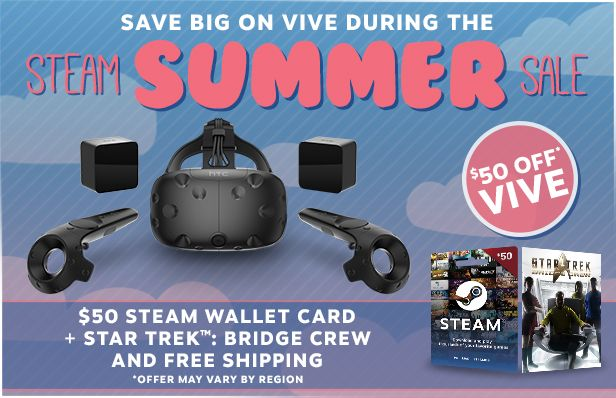 Learn about Limited Time: Save $50 on HTC Vive Get $50 Steam Credit & Star Trek Bridge Crew http://ift.tt/2t1E12N on www.Service.fit - Specialised Service Consultants.