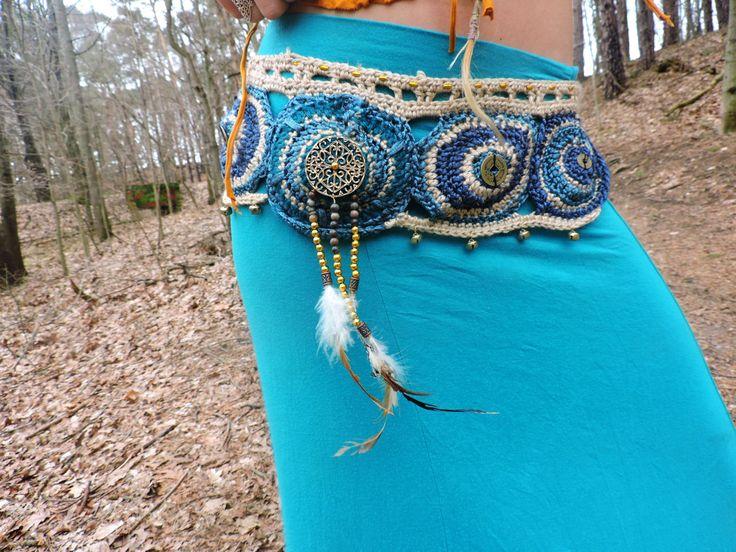 Yin & Yang gehaakte riem van de zak / nut gordel / door HorizonsEd3e