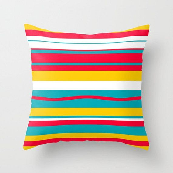 Modern Outdoor Pillow, Striped Pillow, Red Outdoor Pillow, Cool Outdoor  Pillow,Mod Outdoor Cushion, Mid Century Modern Outdoor Pillow