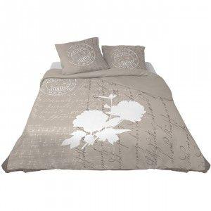 Parure de lit 2 places design timbre et fleur - Linge de lit - Linge de maison   GiFi
