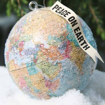 Peace On Earth Globe Ornament Holiday Stuff Pinterest