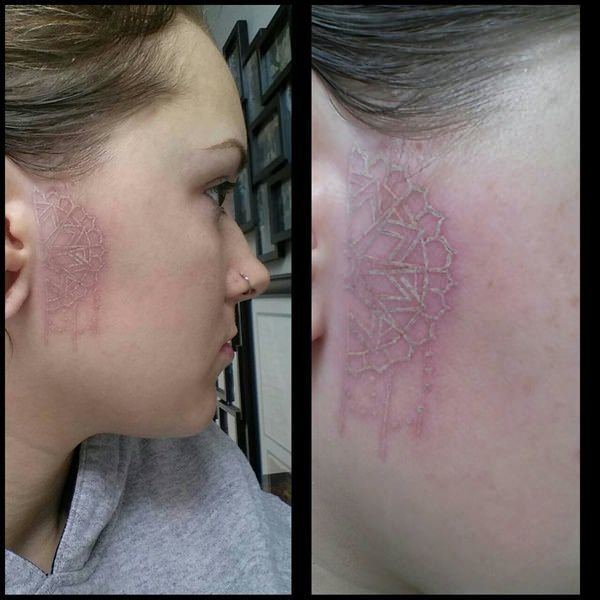 Side Of Face Tattoos: 37 Best White Face Tattoo Images On Pinterest