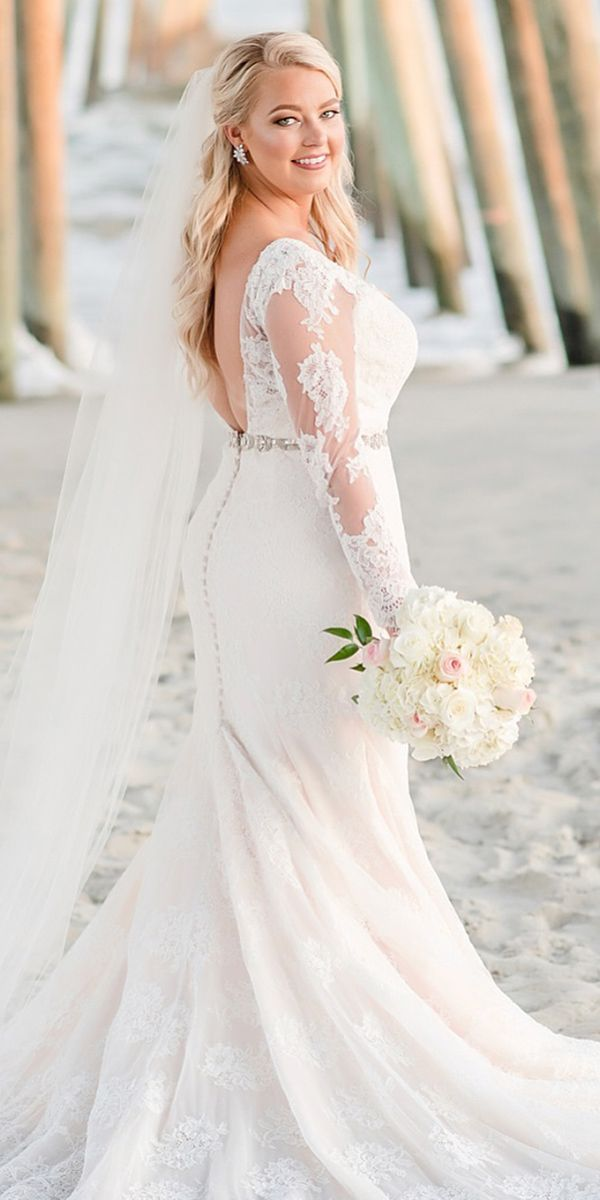 Blush colored plus size wedding dresses, Blue and white ...