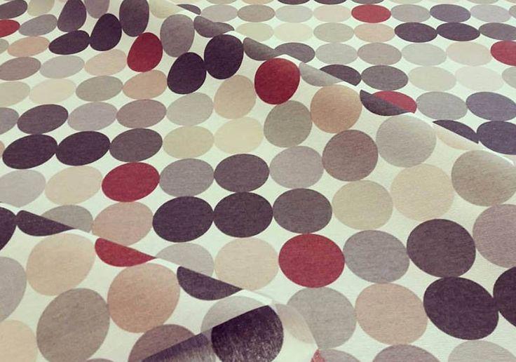 Stoff Punkte - Baumwollmix beschichtet 5cm Punkte erdfarben - ein Designerstück von Zeitlos-Conni-Unsinn bei DaWanda