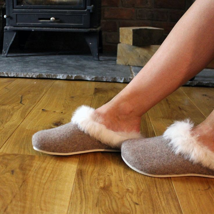 Fluffy's HOLLY Ladies Mule Slippers Stone  Indulge in a world of nothing but luxury and comfort with these ladies HOLLY slippers by Fluffys. Made using a soft rabbit fur cuff, they have the perfect touch of elegance and sophistication, allowing you to relax looking as good as you'll feel. From the second your feet slide into these mule slippers, they will be instantly greeted with cosy faux fur lining, providing all the warmth you could dream of, perfect to wear as the weather gets cooler…