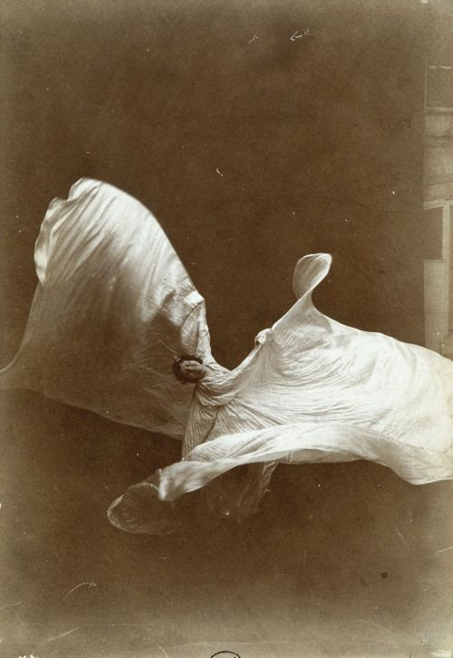 Modern Dance History Unit -Loïe Fuller (1862-1928) American pioneer of modern dance and theatrical lighting (holder of many chemical compound patents). Her dance improvisation, inspired innovation in Isadora Duncan and Ruth St Denis. photo by Isaiah West Taber (1897) http://en.wikipedia.org/wiki/Loie_Fuller ~ KSM