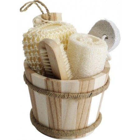 Badset 6-delig, 2x spons, nagelborstel en puimsteen