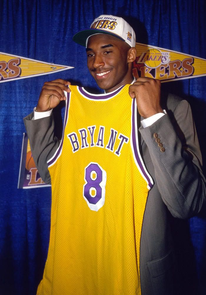 Kobe Bryant Los Angeles Lakers NBA Draft