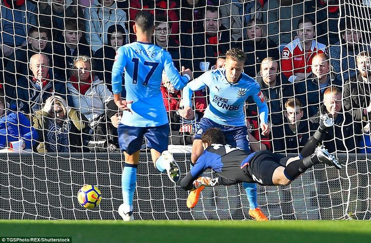Bournemouth fans watched on with concerned expressions as Begovic's desperate dive failed to stop Gayle finding the net