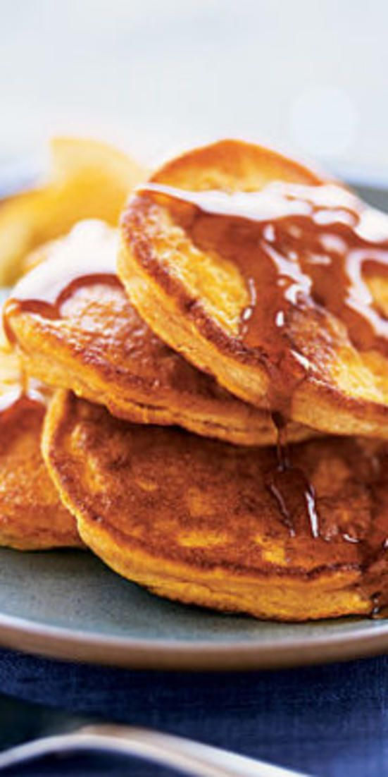 Pumpkin Pancakes  - Stick to low-purine fare, like that in the following recipes, to have a tasty meal without triggering a gout attack or making a flare-up worse.