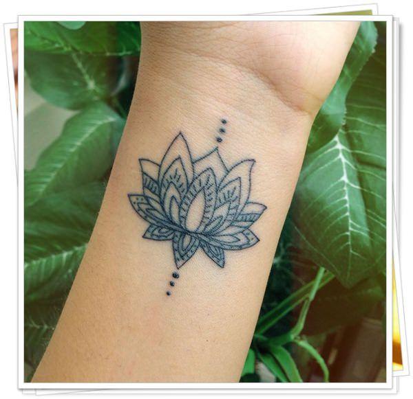 De Flor De Lotus Tatuagem