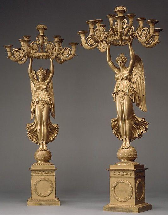 Pair of candelabra  Pierre Philippe Thomire (French, Paris 1751–1843 Paris)  Date: