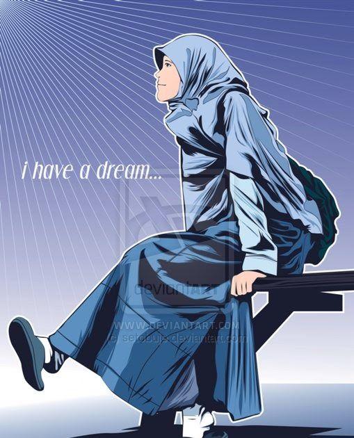 Keindahan seorang wanita harus seutuhnya milik suami bukan untuk dipertontonkan kepada khalayak ramai. 11 Gambar Kartun Muslimah Sekolah Sma Gambar Kartun Wanita Berhijab Sedang Menangis Satu Bangsaku Download Cium Gifs Ten Kartun Gambar Kartun Kartun Gadis