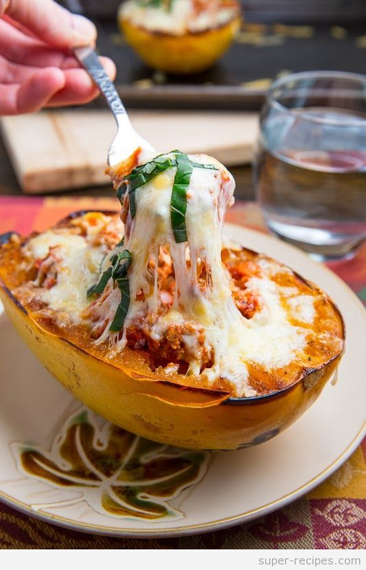 Lasagna Stuffed Spaghetti Squash | Yummy, Yummy!! | Pinterest