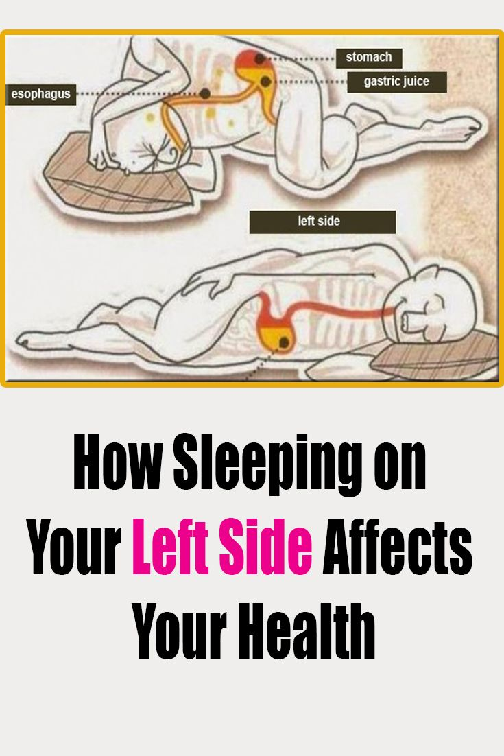 How Sleeping On Your Left Side Affects Your Health Sleep On Left Side Health Healthy Sleep