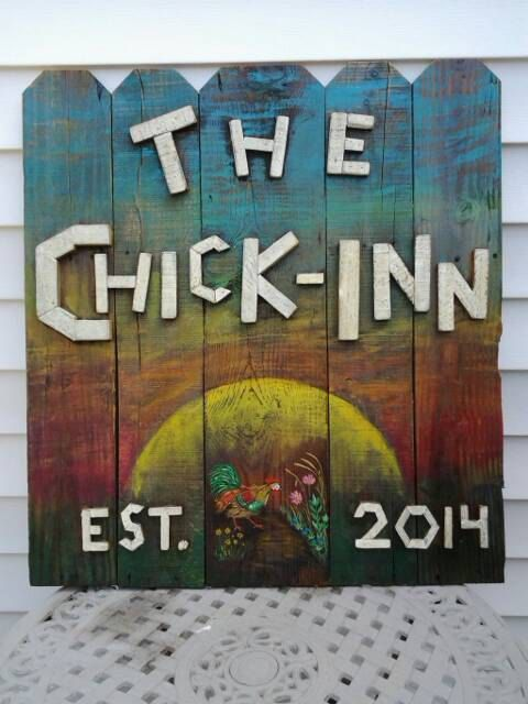 Check out this item in my Etsy shop https://www.etsy.com/listing/208193037/made-to-order-the-chick-inn-chicken-coop