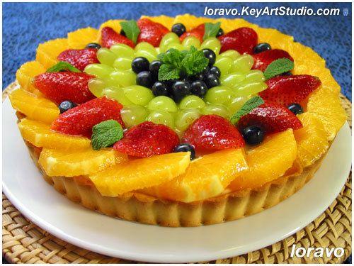 Тарт со свежими фруктами и заварным кремом   Blog Loravo: Кулинарные записки дизайнера