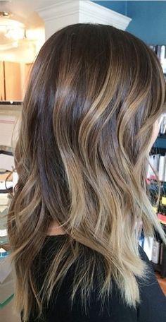 brunette ombre balayage highlights | Mane Interest