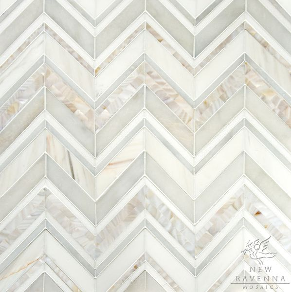 Magdalena, a hand cutstone mosaic, shown in Mother of Pearl, Thassos, Dolomite, and Afyon White polished.