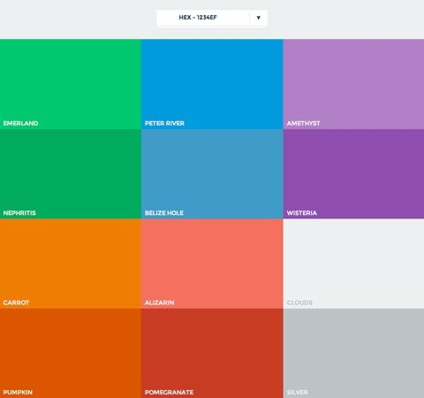 Ressources - Les couleurs du Flat Design