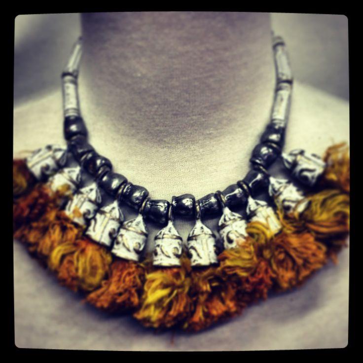Antique tassells & Bronze necklace