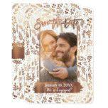 Copper Bronze Gold Foil Modern Save the Date Photo Card #weddinginspiration #wedding #weddinginvitions #weddingideas #bride